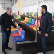 El pavelló Melilla incorpora noves graderies amb capacitat per a més de 100 persones