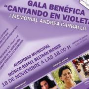 Música, poesia i humor el diumenge a l'Auditori amb la gala 'Cantando en violeta' de l'Associació Andrea Carballo