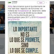 """La Coordinadora Valenciana d'ONGD denuncia """"desistiment de funcions"""" en cooperació al desenvolupament de Vila-real"""