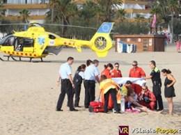 Dona salvada a la platja de Santa Margarida