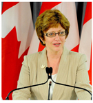 Federal Minister of Human Resources and Skills Development Diane Finley (photo Government of Canada)