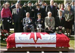 Private Herbert Peterson burial