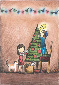 Last year's Pier 1 Imports /Owlkids/UNICEF winning greeting card design by 10-year-old Genice Chan from Vancouver