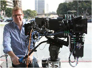 Geneva Film Co. founder and producer/director James Stewart with his 3D camera rig