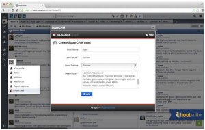 Sales teams can quickly identify and create Leads within SugarCRM from a social media profile within the HootSuite dashboard.