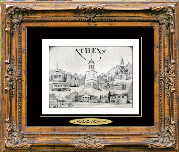 Pencil Drawing of Athens, TN