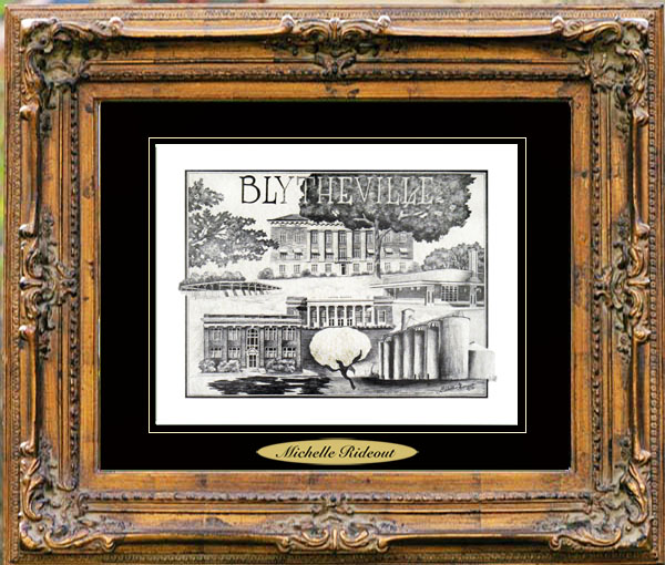 Pencil Drawing of Blytheville, AR