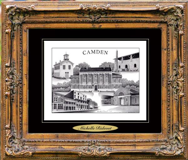 Pencil Drawing of Camden, TN