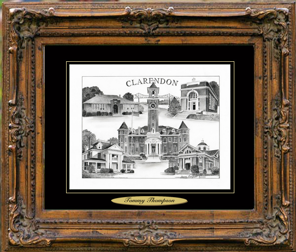 Pencil Drawing of Clarendon, AR
