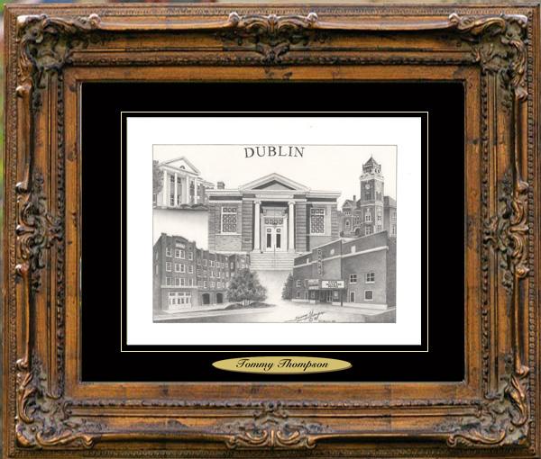 Pencil Drawing of Dublin, GA