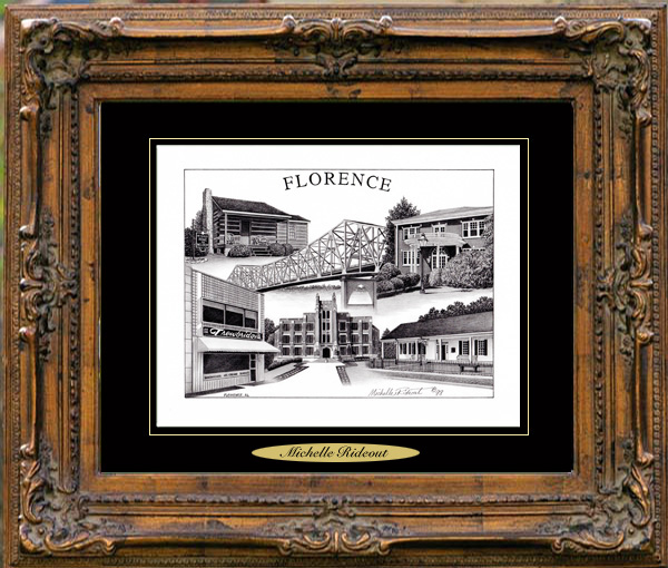 Pencil Drawing of Florence, AL Two