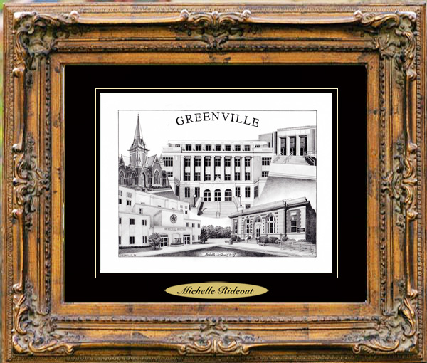 Pencil Drawing of Greenville, TX