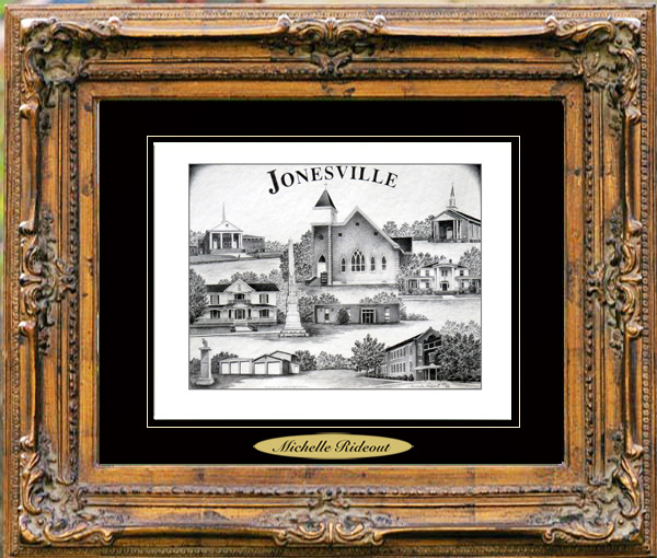 Pencil Drawing of Jonesville, SC
