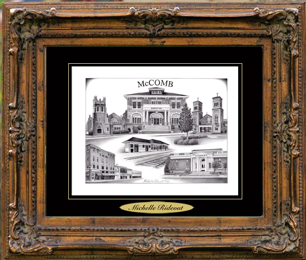 Pencil Drawing of McComb, MS