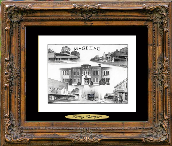 Pencil Drawing of McGehee, AR