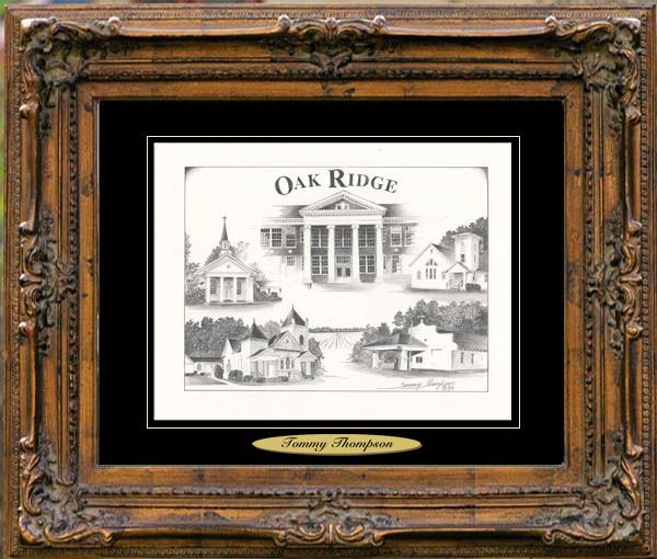 Pencil Drawing of Oak Ridge, LA
