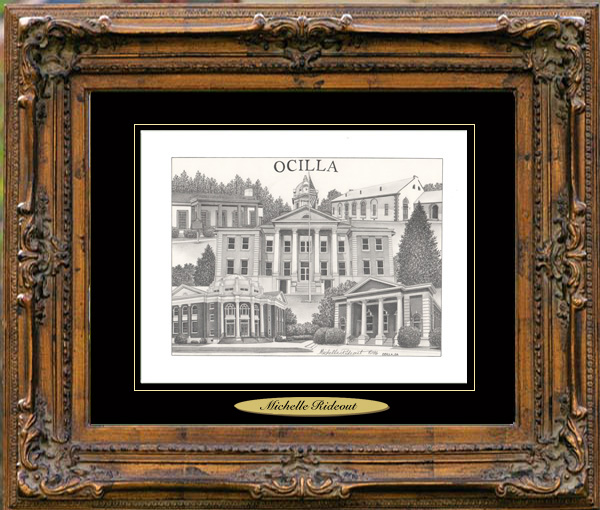 Pencil Drawing of Ocilla, GA