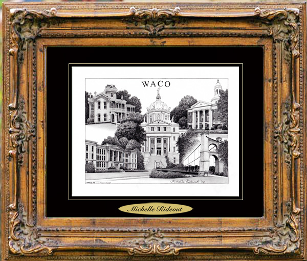 Pencil Drawing of Waco, TX