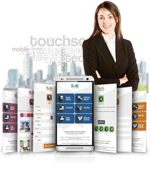 Conheça nosso site para imobiliária com versão Mobile Imobiliária.