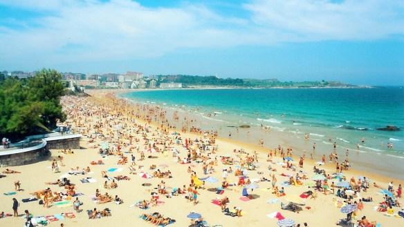 Sardinero Beach, Santander. / Picture: Wikipedia.