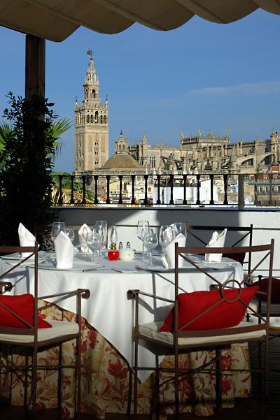 """Views from the restaurant """"El Mirador"""" at the hotel Vincci La Rábida 4* Sevilla."""