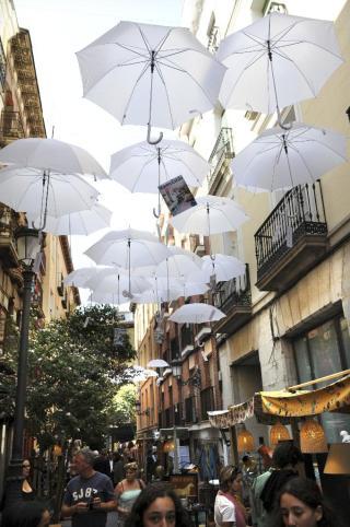 Calles del barrio de las Letras en DecorAcción 2013. / Foto: noticias.lainformacion.com