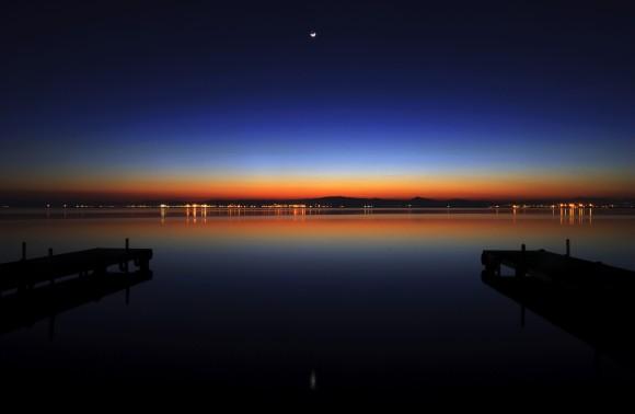 La Albufera de Valencia de noche. / Foto: Chrischroschrus.