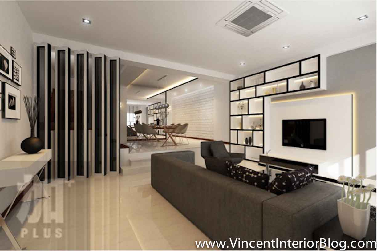 Singapore interior design ideas beautiful living rooms vincent interior blog vincent - Interior wall designs for living room ...