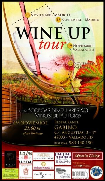 Cartel del evento en Restaurante Gabino de Valladolid
