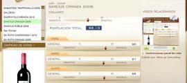 SANCIUS CRIANZA 2006 - 88.15 PUNTOS EN WWW.ECATAS.COM POR JOAQUIN PARRA WINE UP