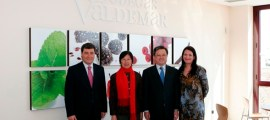 el Embajador de China en Expaña de visita en Bodegas Valdemar