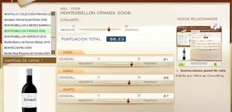 MONTEABELLON CRIANZA 2008 - 88.23 PUNTOS EN WWW.ECATAS.COM POR JOAQUIN PARRA WINE UP