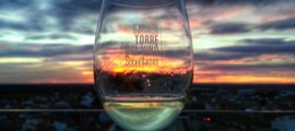 Cata de vinos y puesta de sol