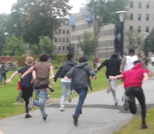The Naruto Run at Vanier
