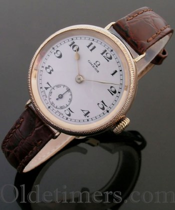 1920s 9ct rose gold vintage Omega watch