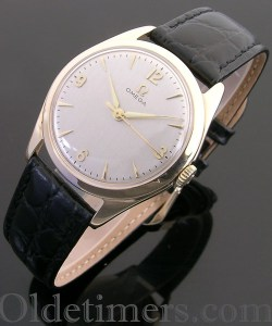 1950s 9ct gold round vintage Omega watch (3787)