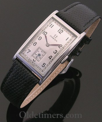1940s steel rectangular vintage Omega watch