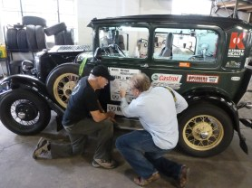 Showing Jay from Autoweek the route on the side of the car