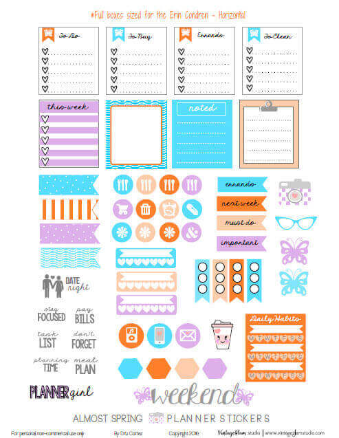 Almost Spring Planner Stickers | Free printable