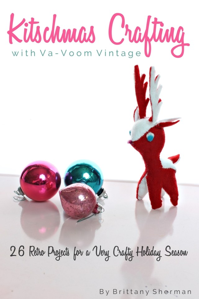 10 awesome christmas kitschy craft ideas the vintage inn for Vintage christmas craft supplies