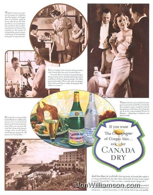 1930s vintage Canada Dry ginger ale ad