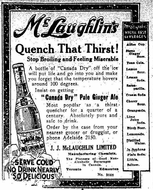 Canada_Dry_Pale_Ginger_Ale_Toronto_Star_ad_1916