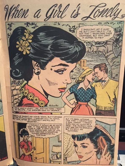 Love Romance 1950s Vintage comic book