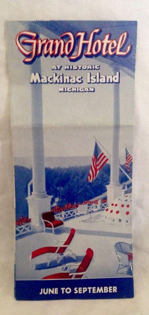 Vintage Mid-Century Grand Hotel Mackinac Island Brochure
