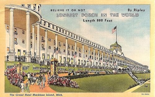 Grand Hotel Mackinac Island Vintage Postcard