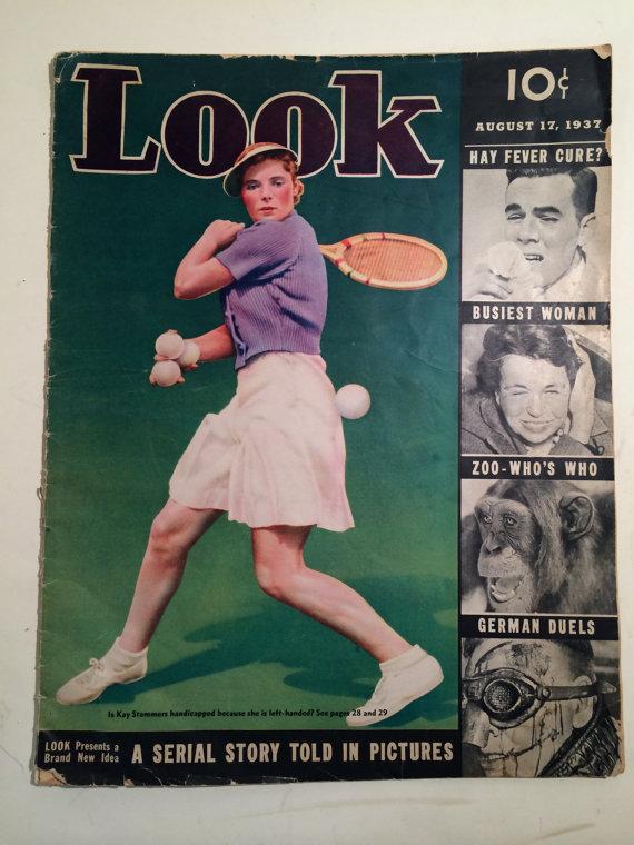 Vintage look magazine 1937