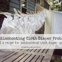 Troubleshooting Cloth Diaper Problems + Recipe for Antibacterial Diaper Spray