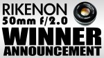 Rikenon 50mm f/2 Lens Winner Announcement