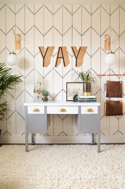 DIY Wallpaper With A Sharpie! • Vintage Revivals