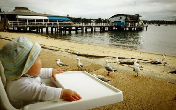 Oli looking at Seagulls